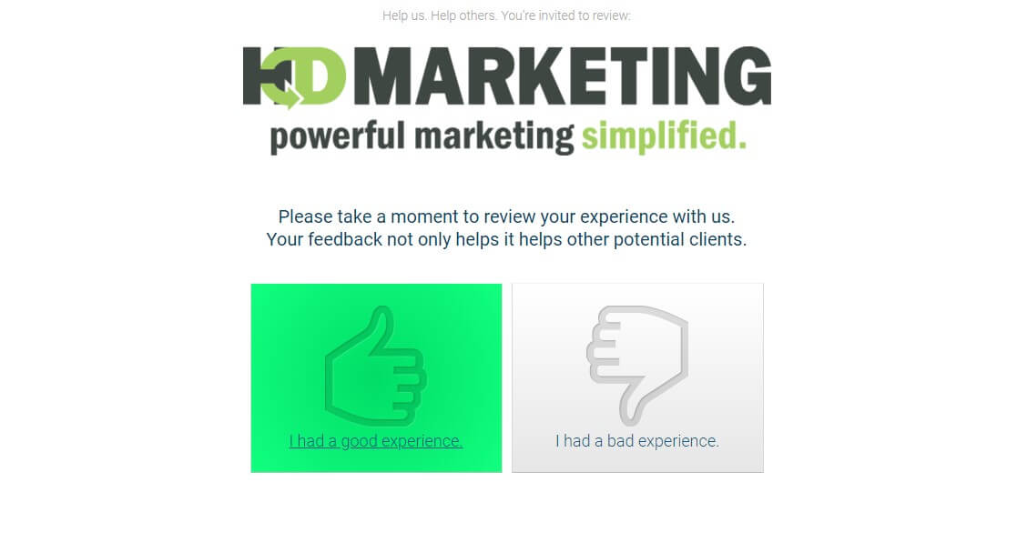 good review landing page