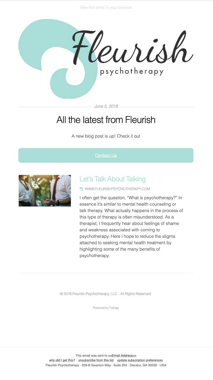 sample email marketing newsletter