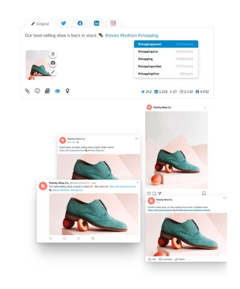 social media management post creation