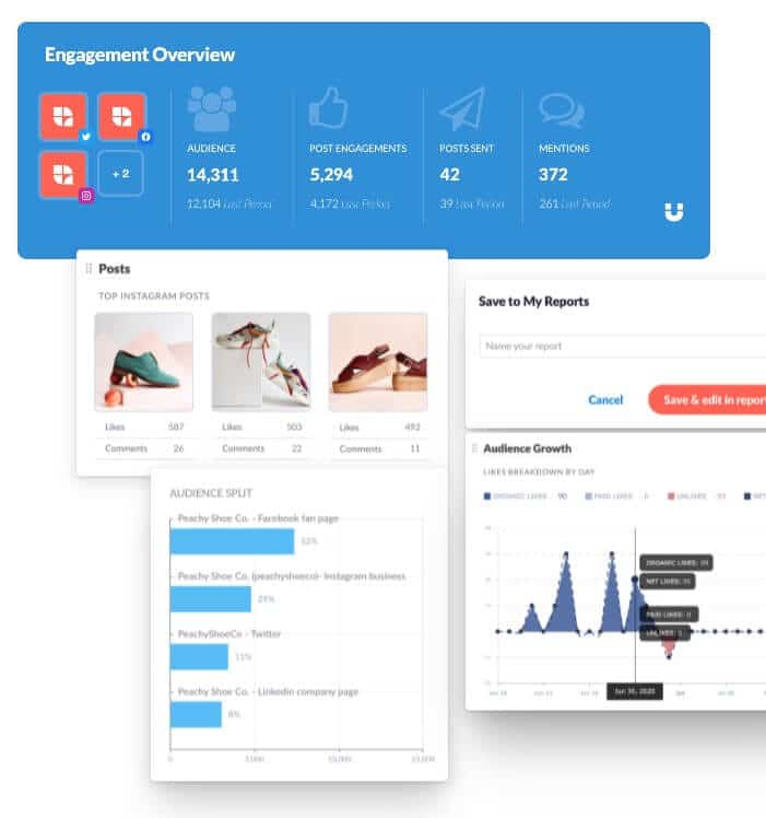 social media management report overview