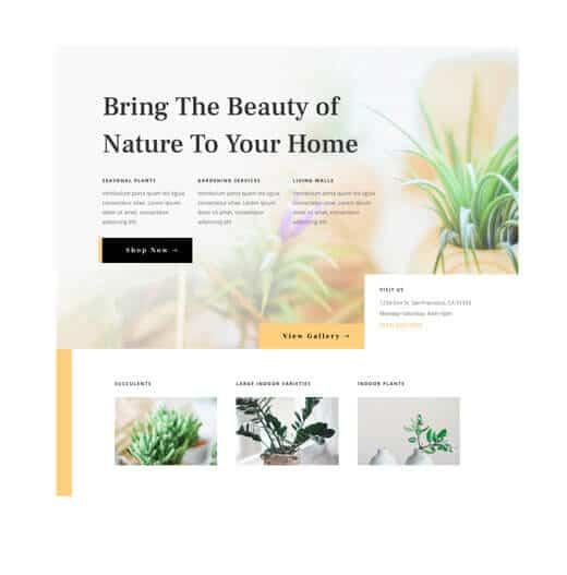 wordpress website design example
