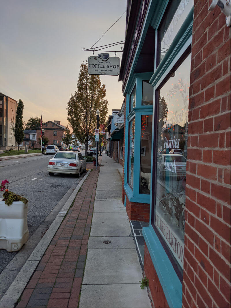 street view of coffee shop in elkton maryland