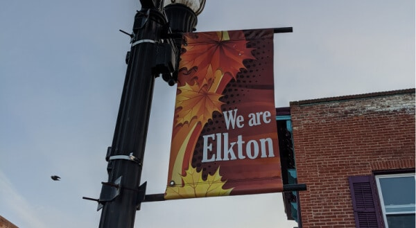 street banner flag elkton md